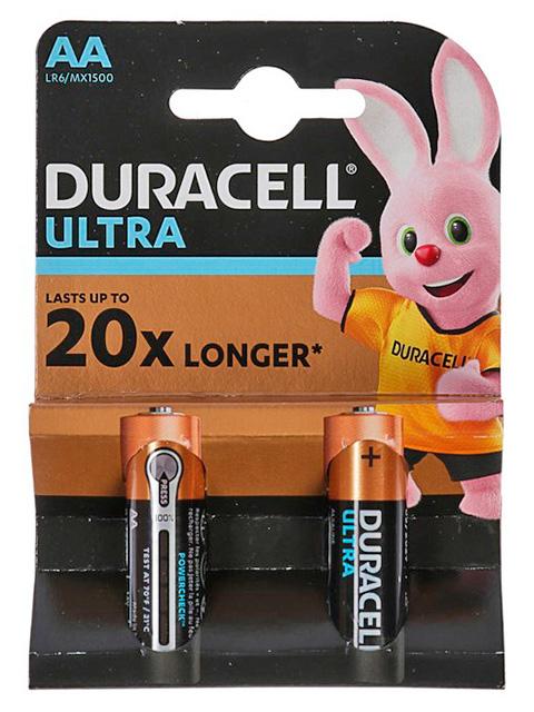 Батарейка щелочная (пальчиковая) Duracell ULTRA POWER LR6 (2 шт) блистер