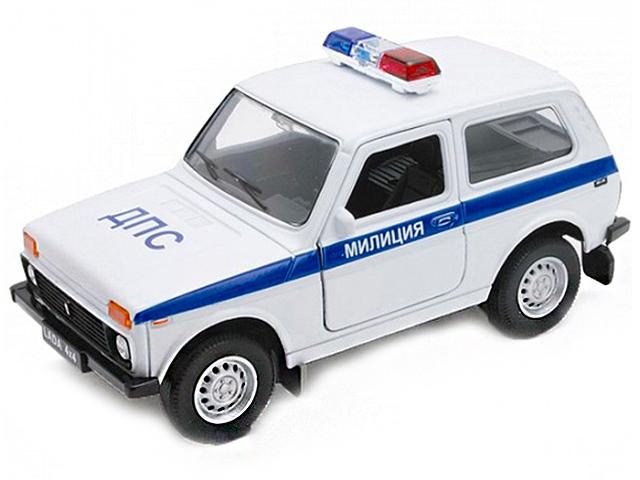 "Машинка-модель ""LADA 4х4 Милиция ДПС"" металл, в коробке"