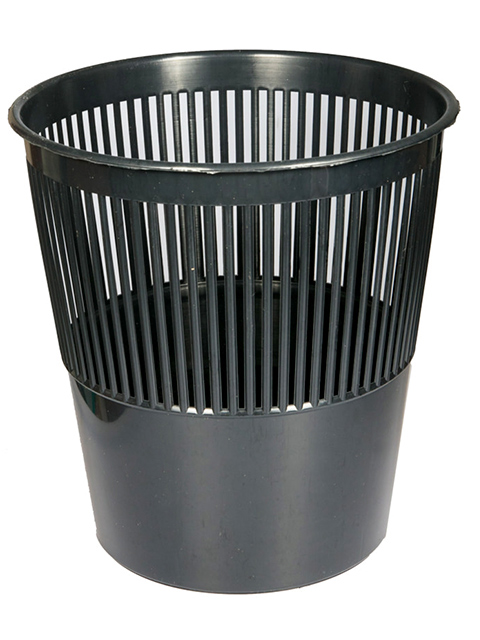 Корзина для бумаг Schreiber/Tukzar, 12л пластиковая черная