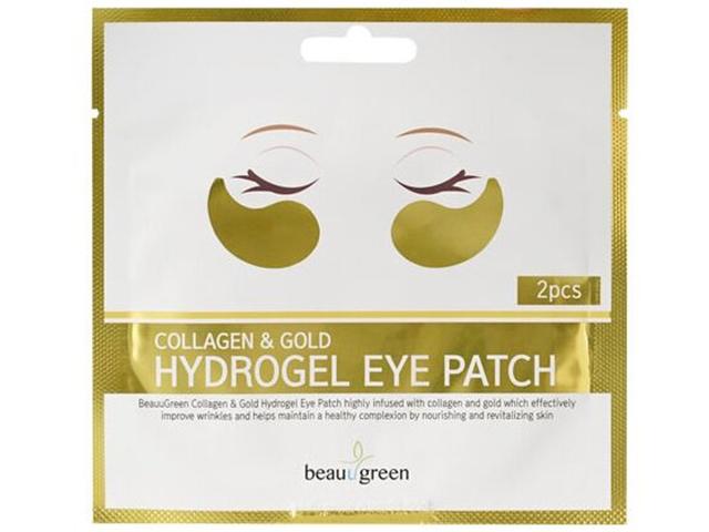 Патчи для кожи вокруг глаз BeauuGreen Collagen Gold с коллагеном, 1 пара
