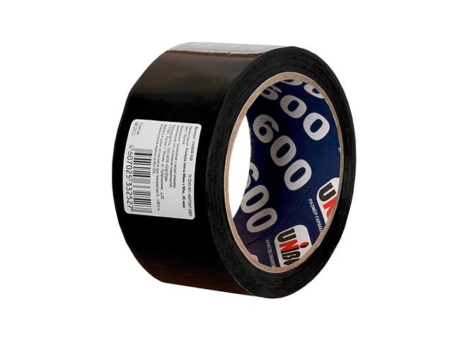 Клейкая лента 48 мм х 66 м черная UNIBOB 600
