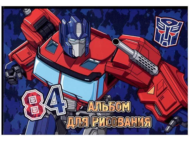 """Альбом для рисования А4 40 листов Академия Холдинг """"Transformers"""" на склейке"""