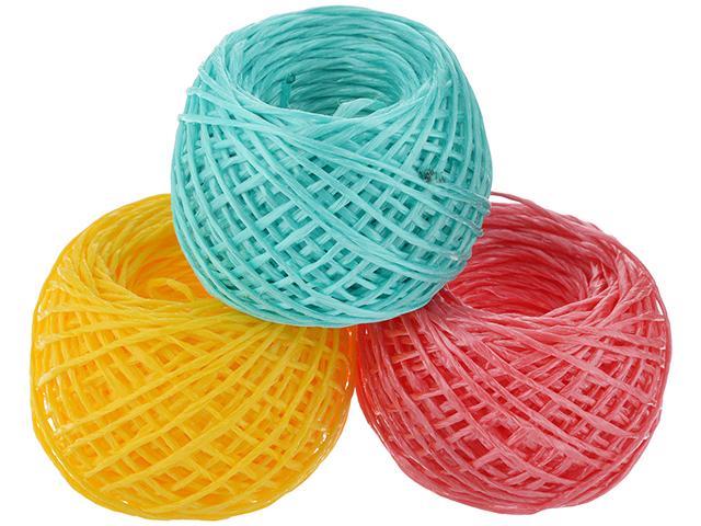 Шпагат полипропиленовый 1000 текс 70г. цветной