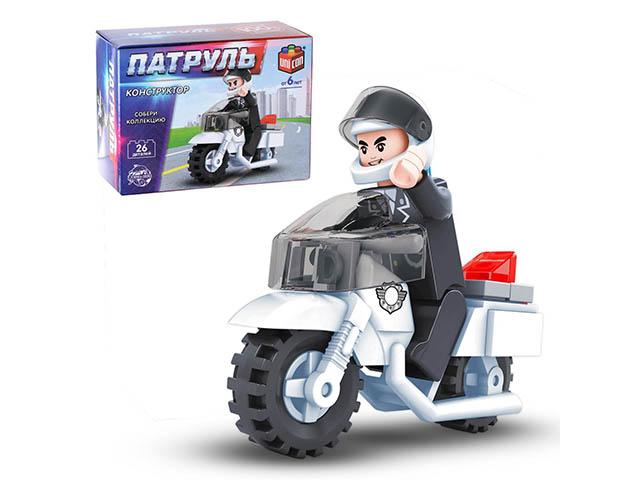 """Конструктор """"Полицейский мотоцикл"""" 26 деталей"""