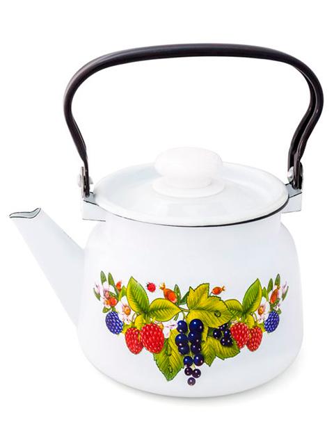 Чайник 2,3л с рисунком с пласт. кнопкой