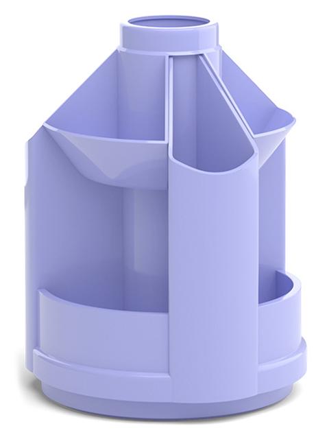 "Подставка настольная Erich Krause ""Mini Desk, Pastel"" вращающаяся, фиолетовый"