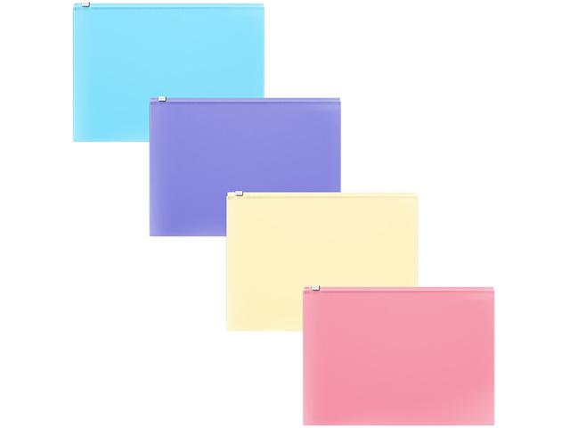 """Папка-конверт на молнии Erich Krause """"Fizzy Pastel"""", С6, 180мкм, ассорти"""