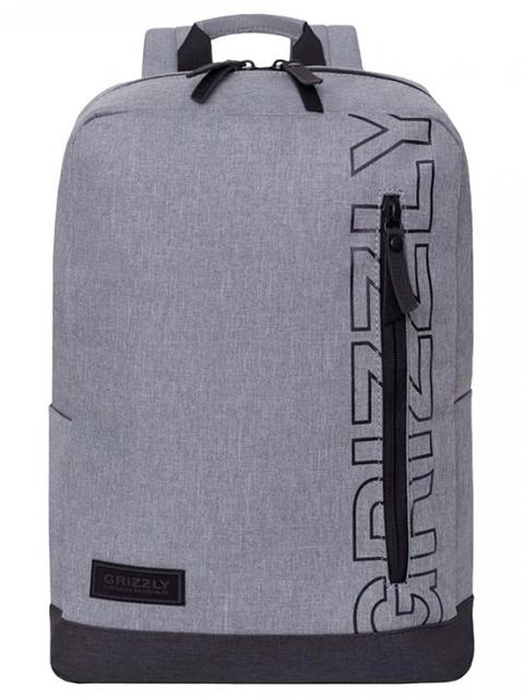 Рюкзак школьный GRIZZLY 28х38х18 см, полиэстер, 2 темно-синий