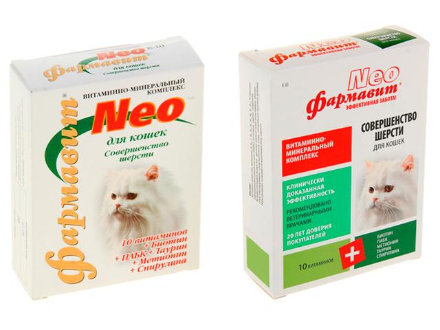 Фармавит Neo К-Ш Витаминно-минеральный комплекс совершенство шерсти для кошек