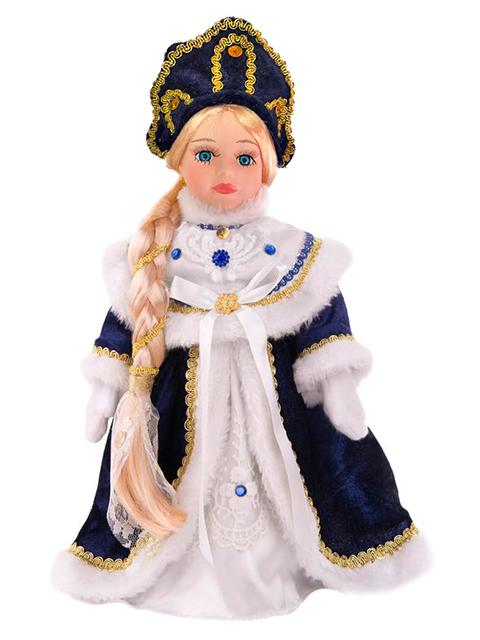 """Новогодняя игрушка """"Снегурочка Забава"""" 30см, керамика/ткань, на подставке"""