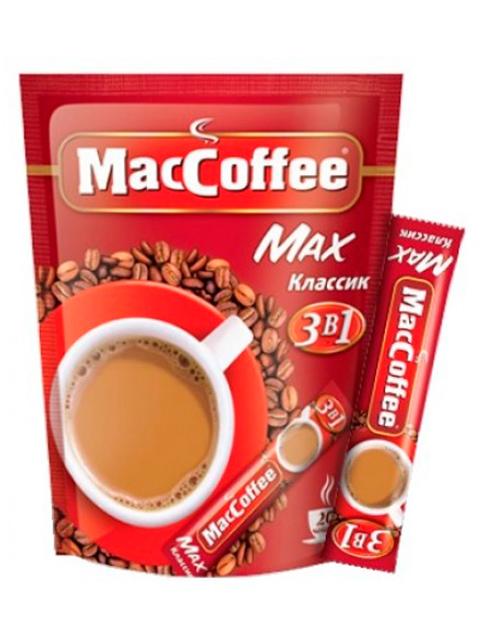 """Напиток кофейный растворимый """"MacCoffee"""" 3в1 - МAX классик 16г"""