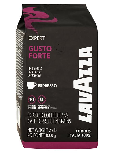 "Кофе в зернах LAVAZZA ""Gusto Forte Expert"" 1кг, вакуумная упаковка"