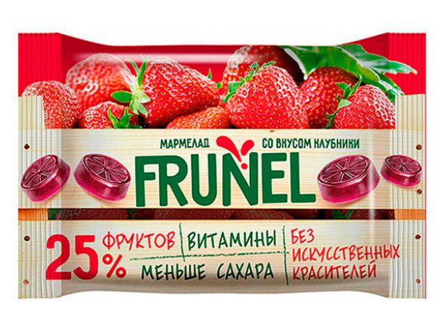 """Жевательный мармелад """"FRUNEL"""" клубника, 40 г"""