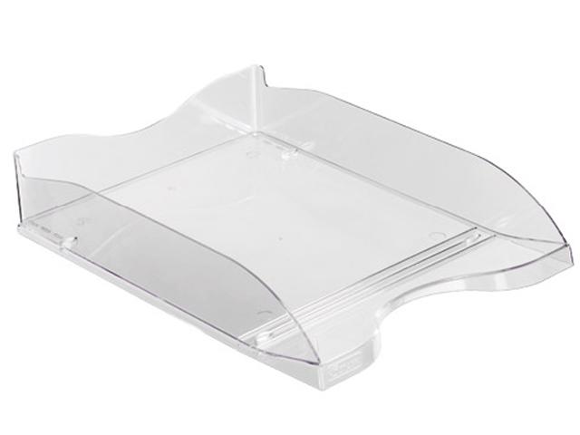 Лоток для бумаг СТАММ Люкс, горизонтальный, прозрачный, бесцветный