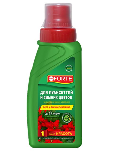 Bona Forte Для пуансеттий и зимних цветов, флакон 285 мл.