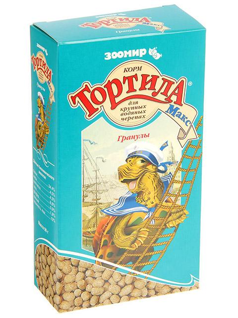 "ТОРТИЛА ""Макс Гранулы"" корм для крупных водяных черепах 90г"