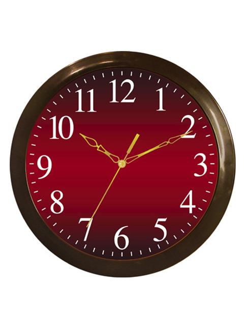 Часы настенные пластиковые П1-9/7-55 Классика бордовая