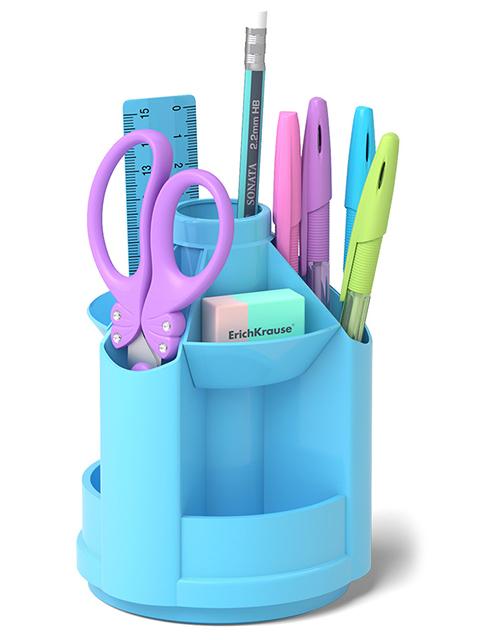 """Набор настольный Erich Krause """"Mini Desk, Pastel"""" 8 предметов, голубой"""