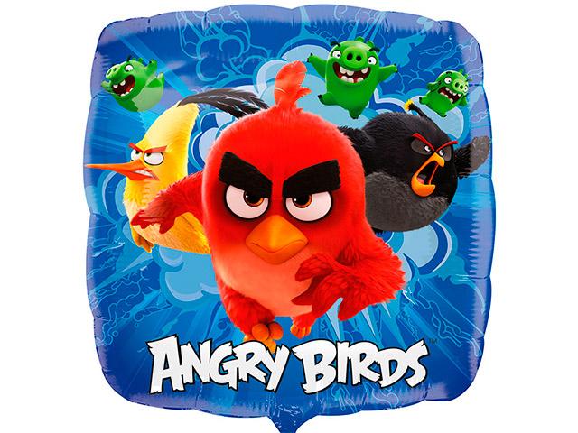 """Шар Квадрат 18"""" """"Angry Birds"""" фольгированный, без упаковки"""