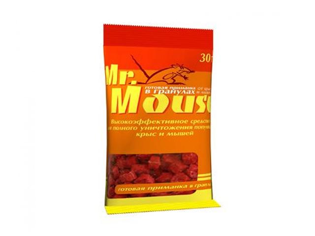 Гранулы Mr.Mouse от грызунов, 30 гр, пакет