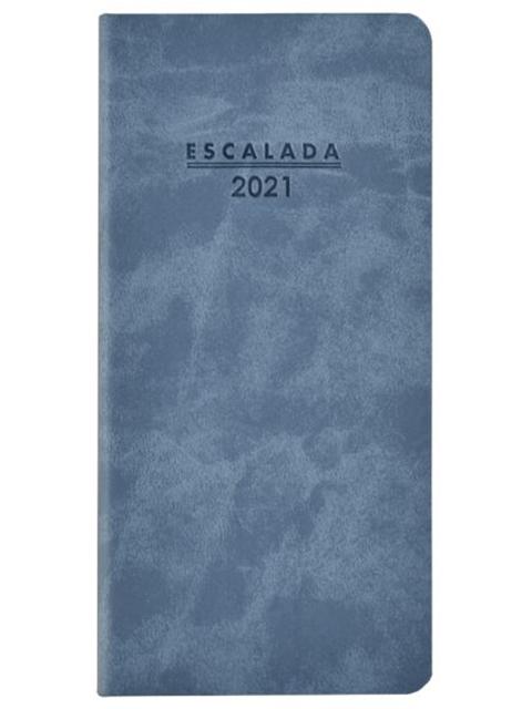 """Еженедельник датированный А6 64 листа Феникс+ """"Escalada 2021. Soft-tuch Delave"""" голубой, мягкий переплет"""