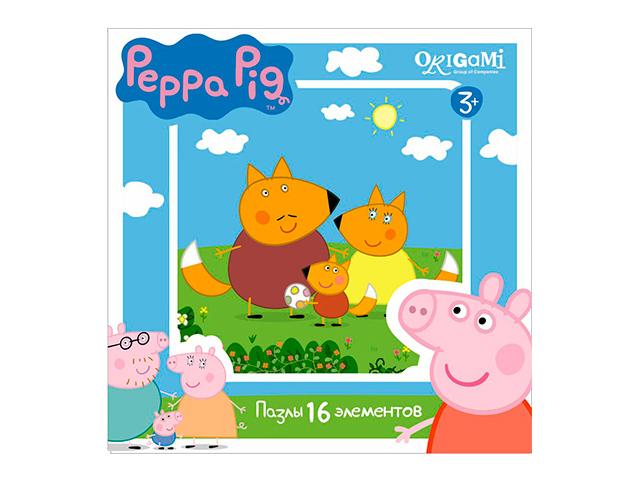 "Пазлы 16 элементов 212х212 Josef Otten ""Peppa Pig. Оригами"" 01579"