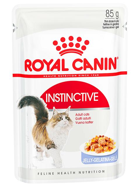 Корм РК Инстинктив 0,085 кг в желе (для взрослых кошек в возрасте от 1 года до 7 лет)