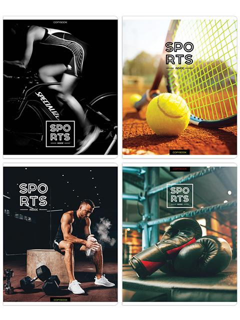 "Тетрадь А5 48 листов клетка ArTSpace ""Спорт. Inside sports"" на скрепке"