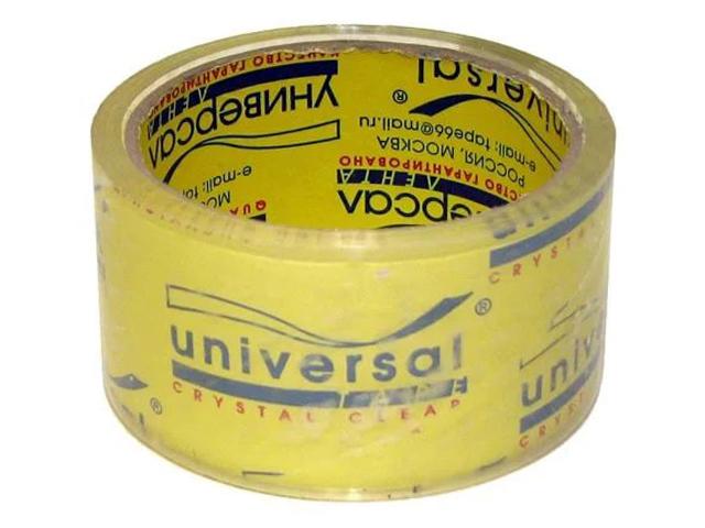 Клейкая лента 50 мм х 66 Y кристально-чистая UNIVERSAL