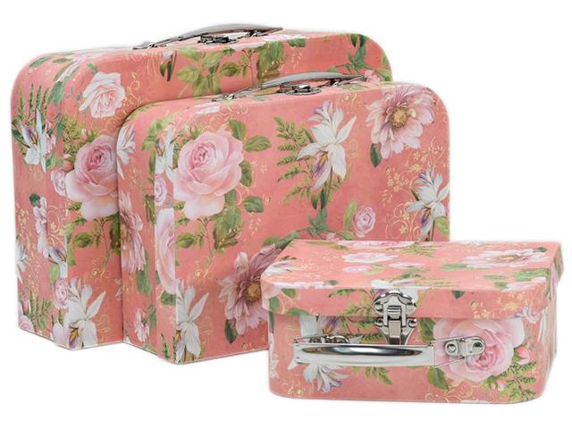 "Коробка-чемодан ""Розовые цветы"" 25х19 см"