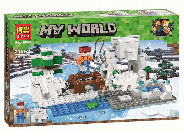 "Конструктор ""MY WORLD. Зимняя рыбалка "" 215 деталей в коробке"