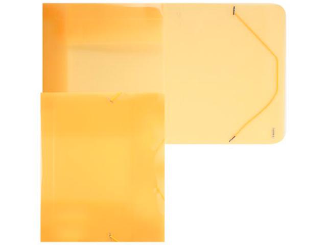 """Папка А4 на резинке PROFF """"Next"""" 40мм. жёлтая полупрозрачная"""