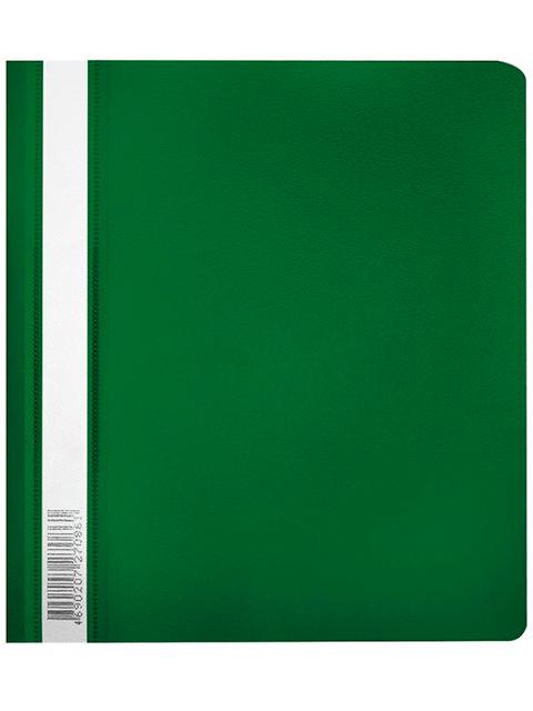 """Папка А5 со скоросшивателем Бюрократ """"Люкс"""" с прозрачным верхним листом, зеленая"""