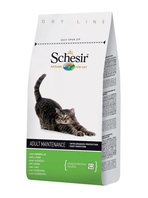 Корм SCHESIR, сухой, для кошек, ягненок, 400г