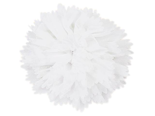 """Резинка для волос """"Schreiber"""" Белый бант, 11 см"""