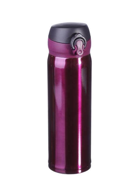 Термос-бутылка 450 мл., с крышкой на защелке, нерж. сталь