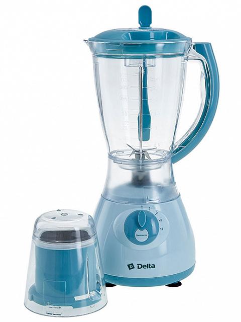 Блендер электрический Delta DL-7310, серо-голубой, 350 Вт