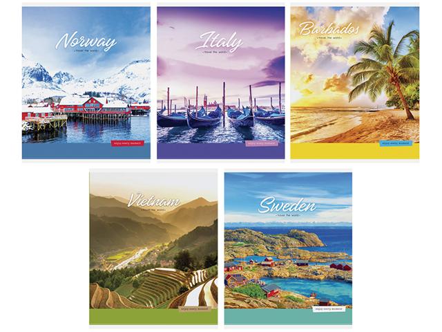"Тетрадь А5 48 листов линия ArTSpace ""Путешествия. Travel the world"" на скрепке"