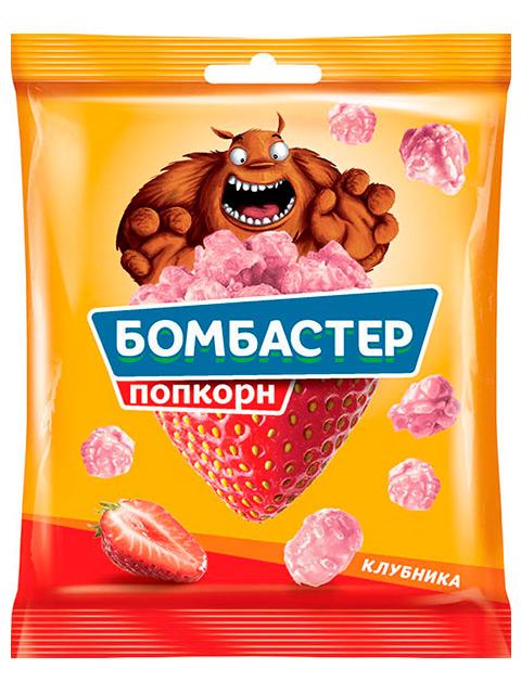 """Попкорн """"Бомбастер"""" карамельный со вкусом клубники, 50 г"""