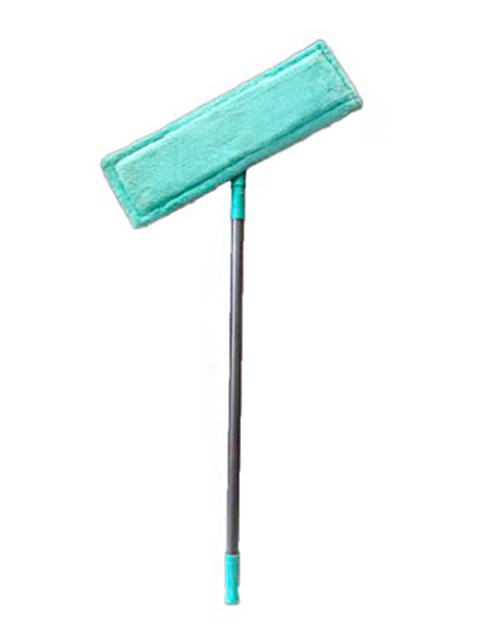 """Швабра Флеттер """"Умничка"""" с насадкой из микрофибры, телескоп. ручка 125см. мята"""