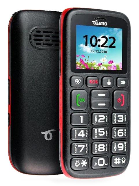 Мобильный телефон OLMIO С11 (черный-красный)