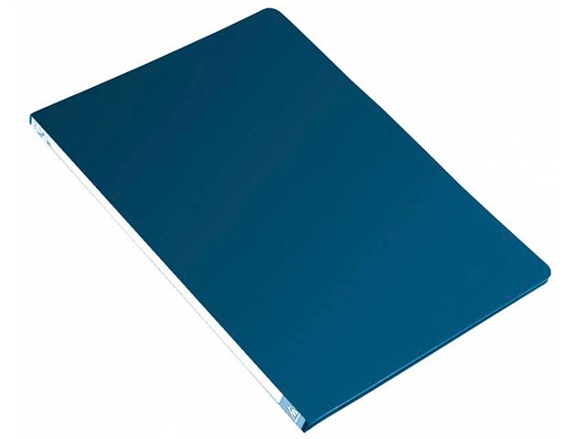 Папка А4 с пружинным скоросшивателем Бюрократ 0,7мм, синий