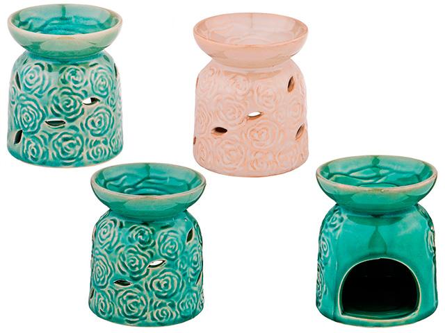 Аромалампа, h-11см, керамика, цвет в ассортименте