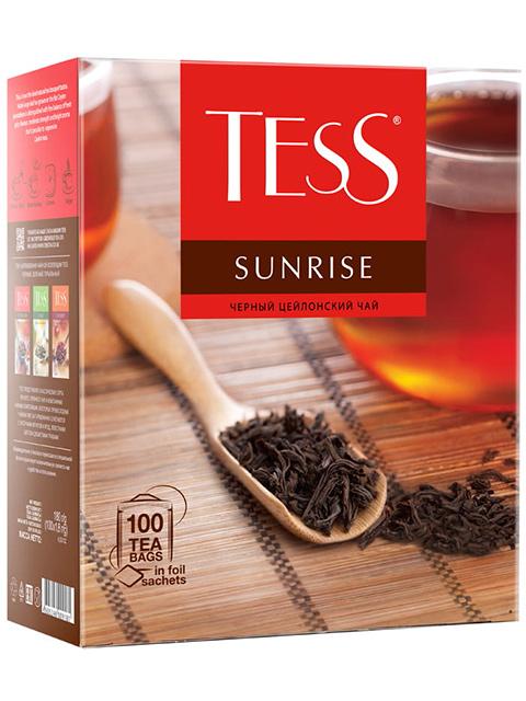 Чай TESS SUNRISE черный в пакетиках с ярлыками 1,8гр. 100шт.