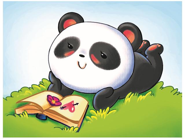 """Набор для детского творчества """"Холст с красками. Маленькая мечтающая панда"""" 17х22 см"""