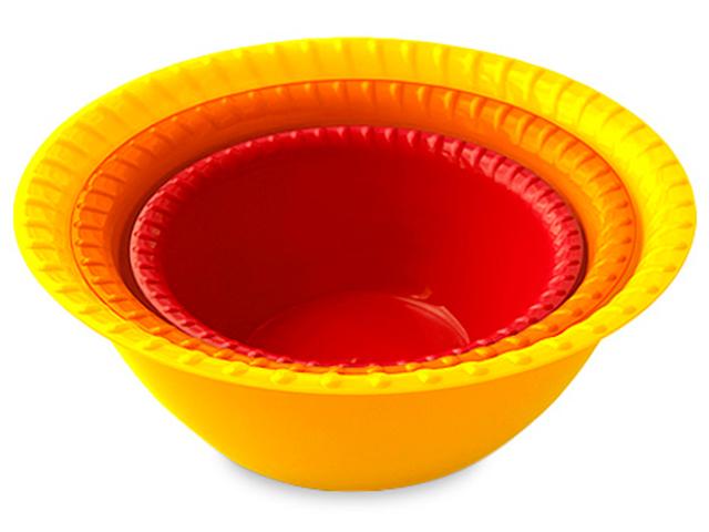 Миска-салатница набор 0,8л, 1,5л, 2,5л, колор