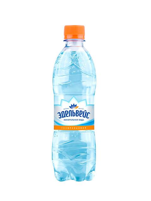 Вода питьевая Эдельвейс 0,5 л, газированная пл/бут.