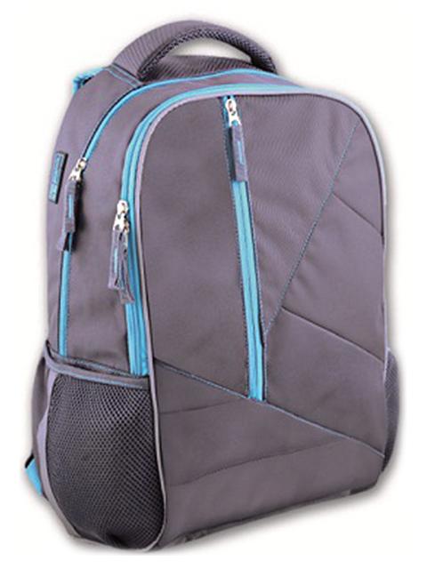 Рюкзак подростковый Феникс+ 45х31х15 см, серый + бирюза