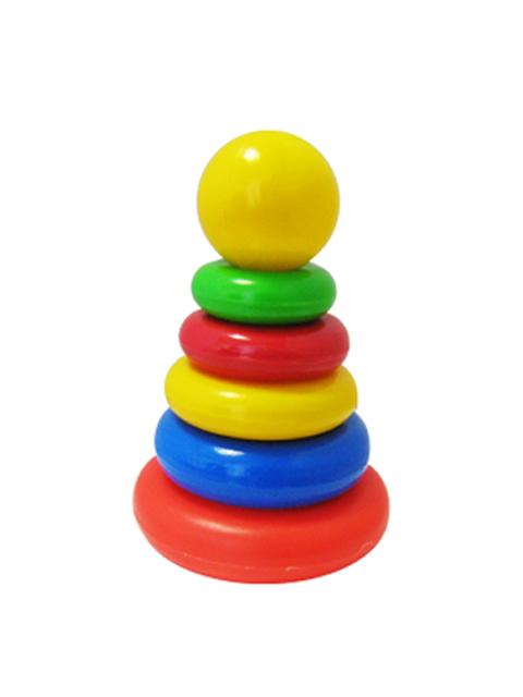 """Пирамидка """"Клоун"""" 5 колец"""