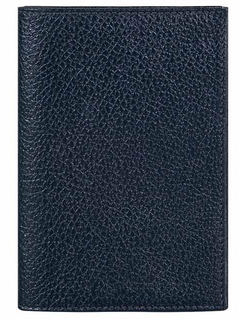 Обложка для паспорта FABULA нат. кожа, синий